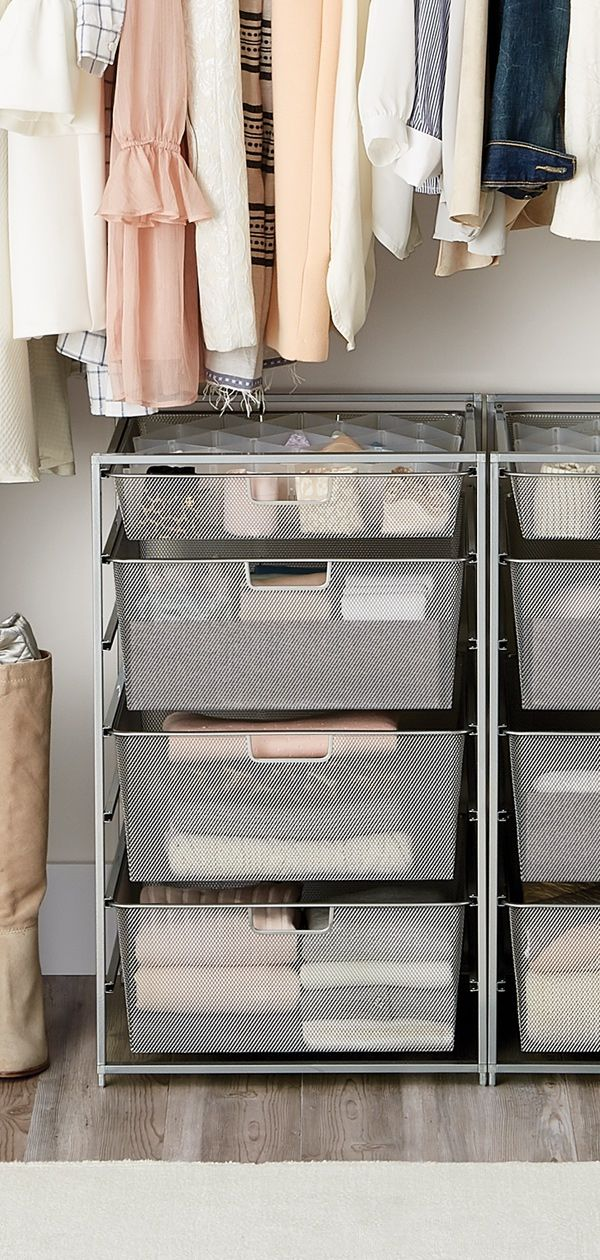 Elfa Drawer Units Are Perfect For Any Room Or Storage Need In Your Home T Bedroom Organization Closet Bedroom Storage Ideas For Clothes Closet Clothes Storage