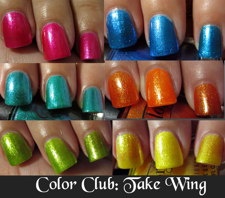 Color Club summer 2012 Take Wing Collection reviews and swatches: Colors Club, Club Summer, Color Club, Collection Review, Abacus, Nails Polish, Wings Collection, Creative Nails