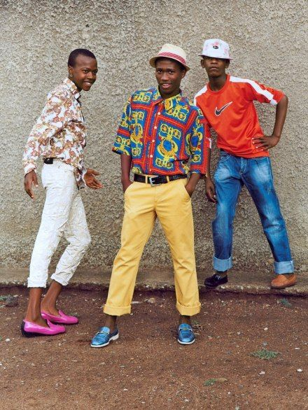 Young Soweto men, izikhothane