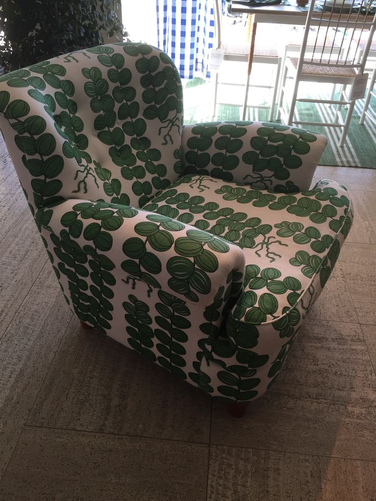 Svensk Tenn armchair in Josef Frank Celotocaulis linen
