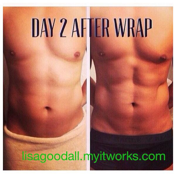 Yes, men can wrap too!!! Find that hidden 6 pack!!!!   $59 box of 4 as a loyal customer.  tracypearson.myitworks.com