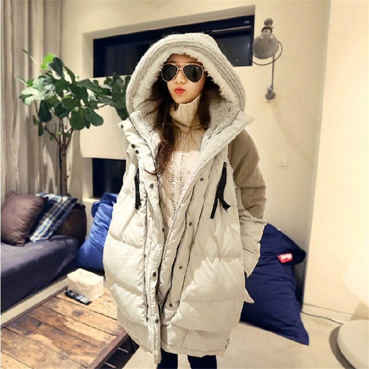 Winter Jacket Women 2017 New Europe Style Fashion Loose Coat Female Medium Long Plus Size Park Coats Jackets For Women C1380