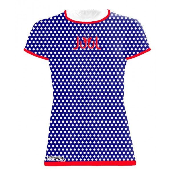 Dámské sportovní tričko Puntíky - modrá