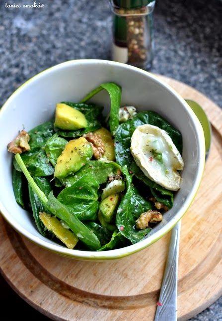 Taniec Smaków: Sałatka ze szpinaku, nieziemskie połączenie / spinach salad with avocado and goat cheese