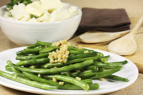 green beans with miso and almonds | Menu Ideas | Pinterest