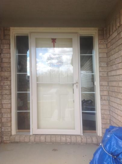 36 in x 80 in 3000 series white self storing easy for Storm window installation