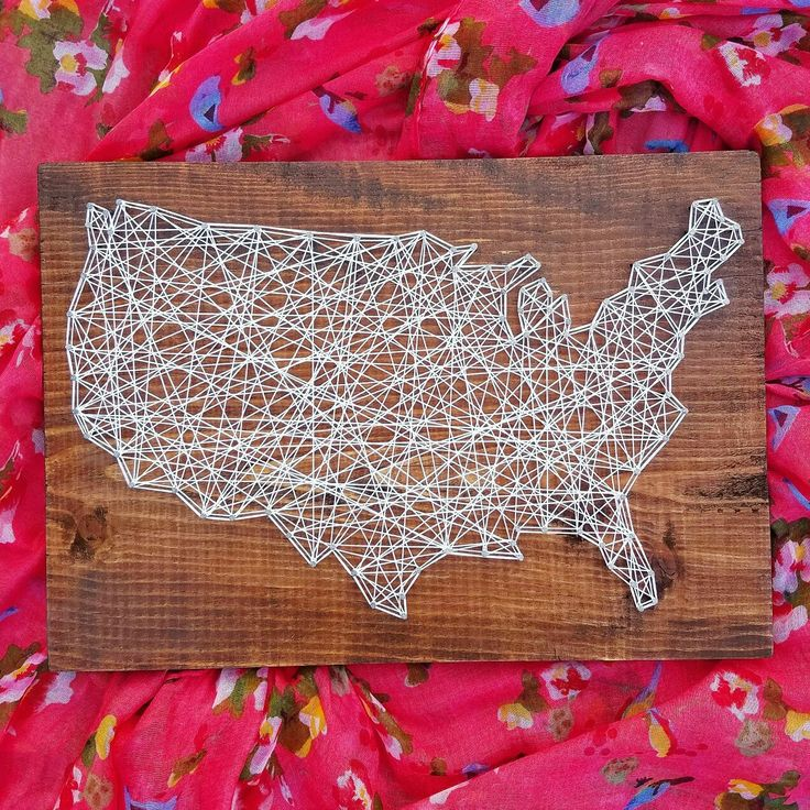Map Usa States Abbreviations%0A Made to Order String Art United States Map by BlossomingBurlap   Gracie  Projects   Pinterest   United states map  String art and Picture hangers