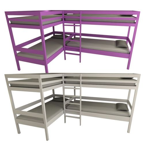 Essentials quad bunk beds With growing families and smaller homes this bunk has been deisgned to maximise the space in your childrens bedrooms