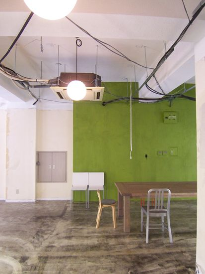 """Japanese Office Painted in """"Banana Leaf"""" green by Sydney Harbour Paint Company."""