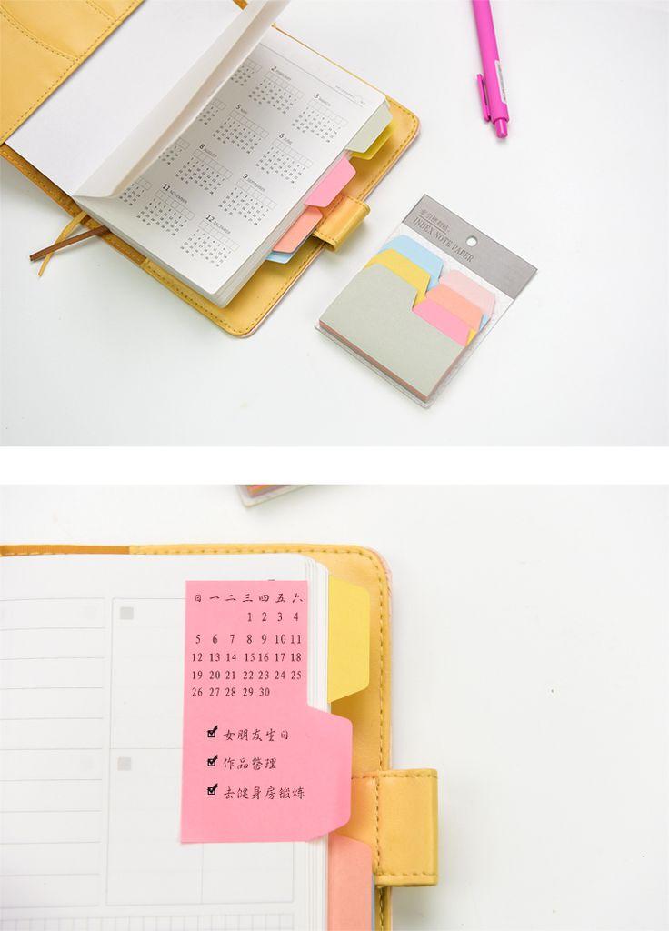 6 цветов ноутбук примечание индекс бумажные карты наклейка милые записки пост он memo pad для школьных и канцелярских принадлежностей канцелярские купить на AliExpress