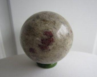 Ruby in Feldspar Crystal Sphere Ball