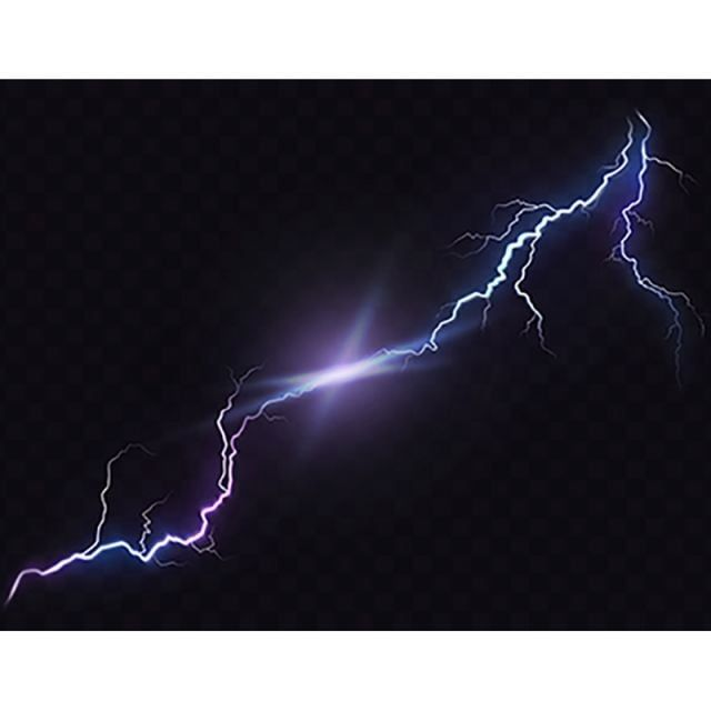 Vector Illustration Of A Realistic Style Of Bright Glowing Light Lightning Electricity Thunder Png And Vector With Transparent Background For Free Download Light Bulb Icon Vector Illustration Light Bulb Vector
