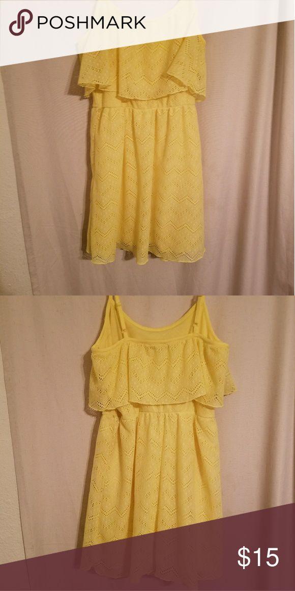Yellow spaghetti strap sundress Very bright very pretty yellow sun dress Bailey blue  Dresses Mini