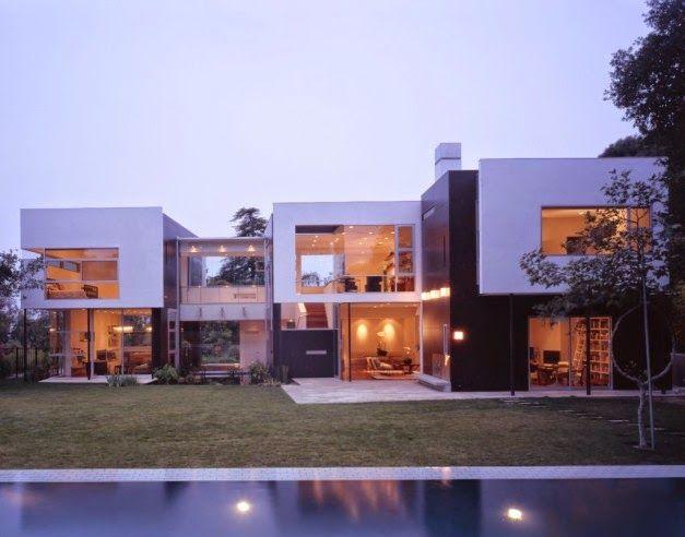 Desain Rumah Kubus Dua Lantai