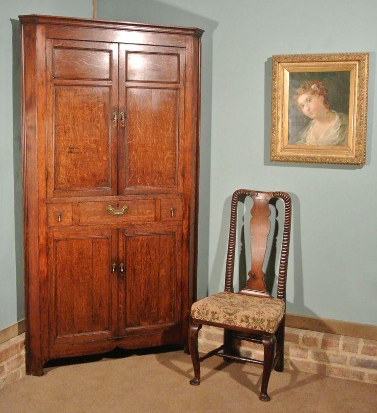 Good George Iii Oak Corner Cabinet C. 1770 | 503443 | Sellingantiques.co.uk