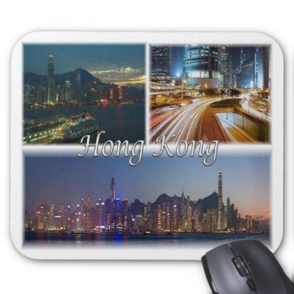 HK Hong Kong - Mouse Pad - #customizable create your own personalize diy