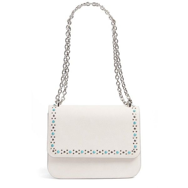 Women's Chelsea28 Dahlia Stone Faux Leather Crossbody Bag (5,105 INR) ❤ liked on Polyvore featuring bags, handbags, shoulder bags, ivory pristine, crossbody shoulder bag, studded purse, faux leather crossbody purse, white purse and faux leather crossbody