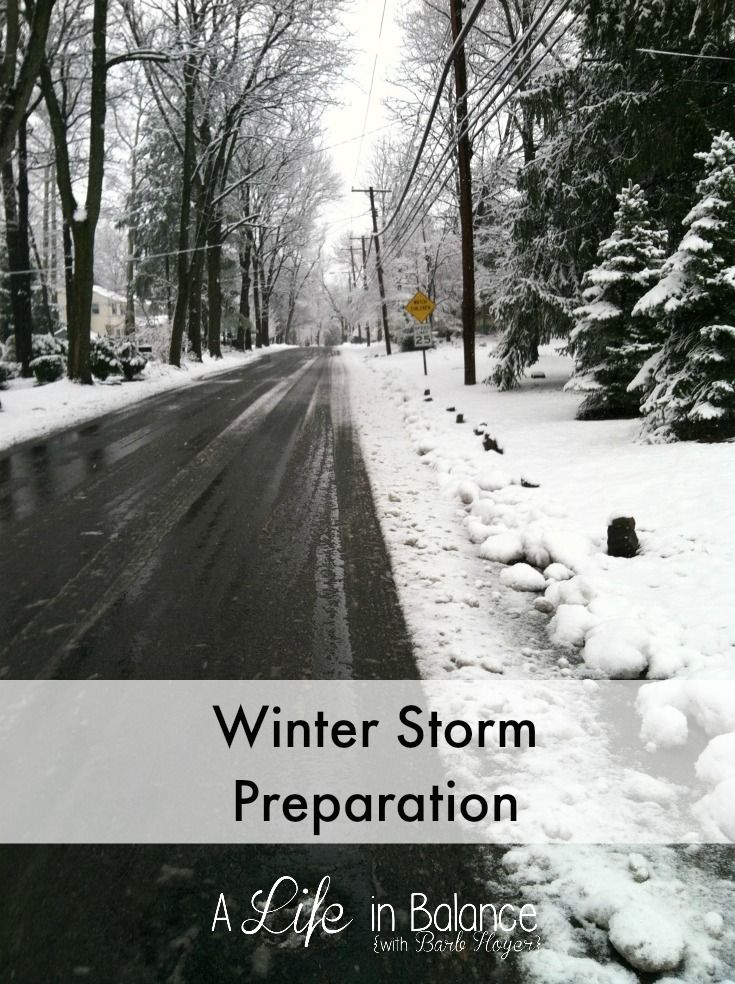 Winter Storm Preparation - When the first major snowstorm of the year was predicted last week, I realized I had not done much winter storm preparation. My Heat and Eat Box was empty. I don't have the right batteries in stock for our Coleman battery-operated lantern. I wasn't sure if my husband had gas for the generator.Since ...