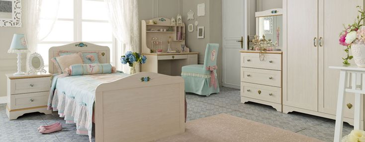 Preteen girls bedroom. Source: http://www.cilek.com/