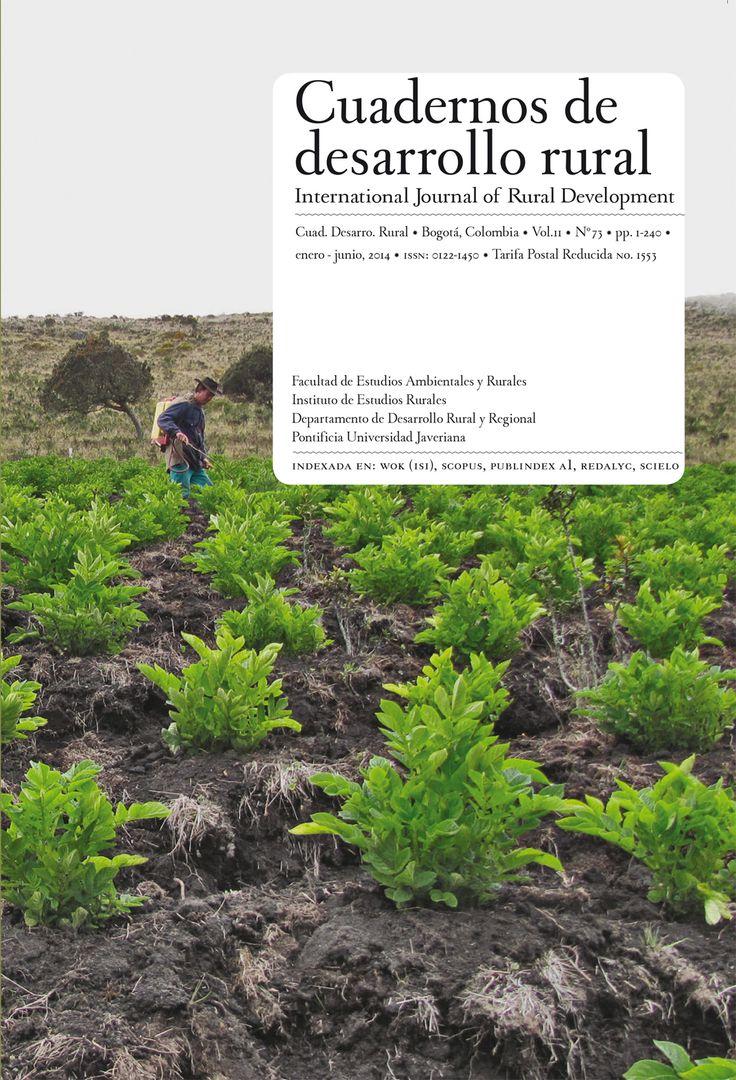 Vol 11, No 73 (2014) Cuadernos de Desarrollo Rural