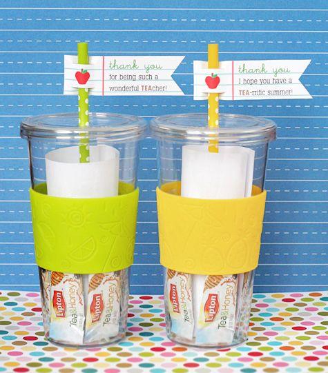 Teachergift: tea straws