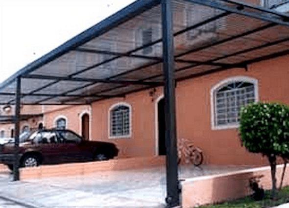 Modelo de cobertura para garagem muito usado em - Modelos de casas ...