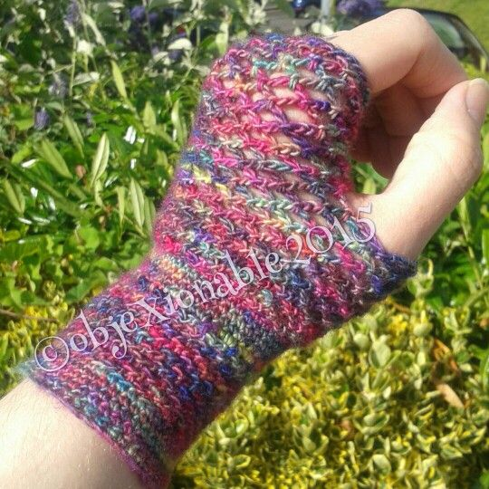 Lace effect crochet fingerless mittens, gloves. Made with fine merino wool. Great for colder summer evenings and festivals.