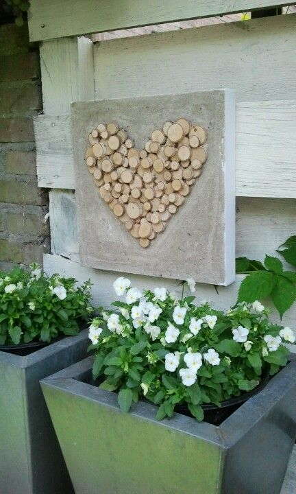 creatief met berkenboomschijfjes....