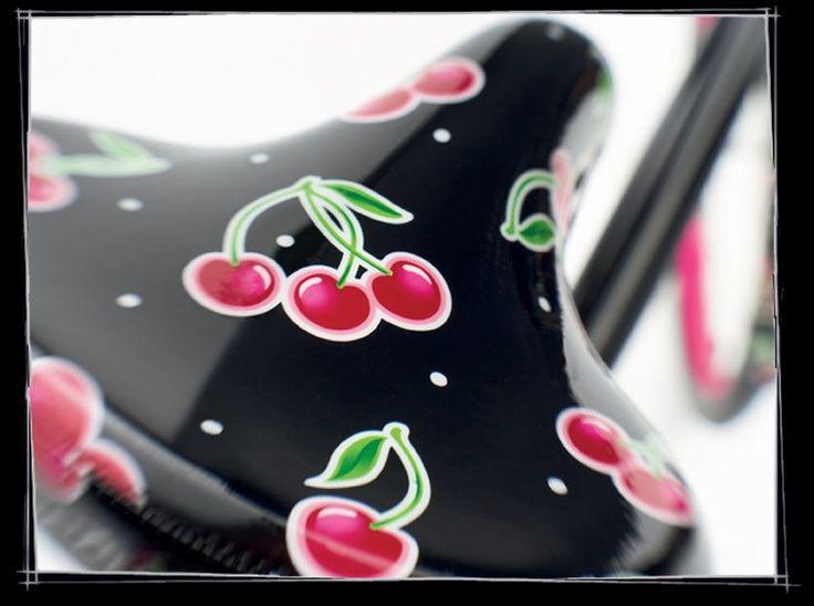 bicycles with cherries | Electra ladies cherry bike seat | Cruisin' | Pinterest