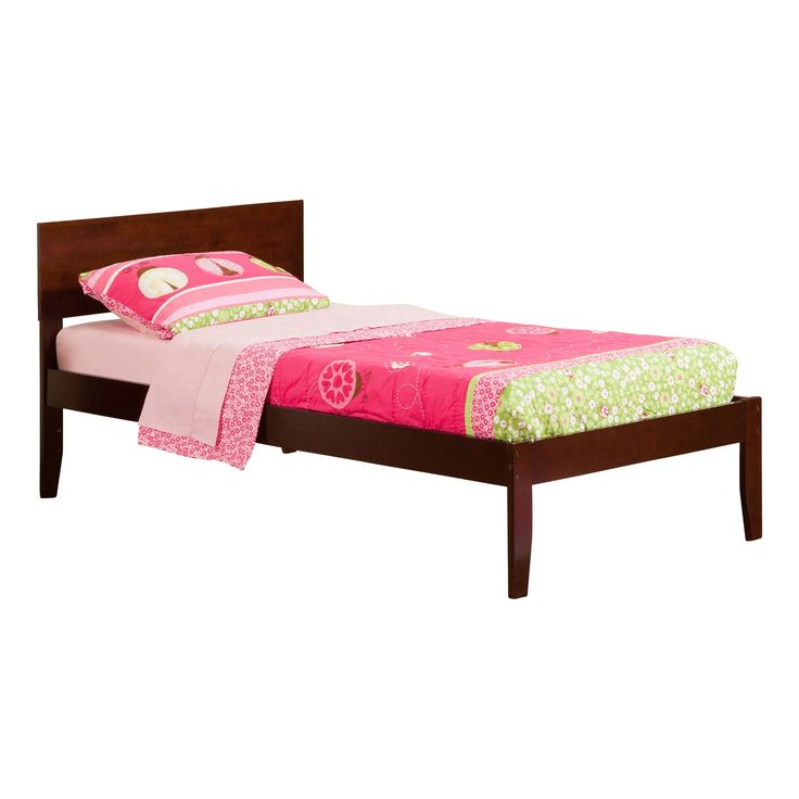 Atlantic Furniture Orlando Walnut Brown Open Foot Twin Xl Bed Size Color