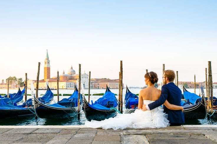 Braut und Bräutigam beim After-Wedding-Shooting in Venedig. Foto: ROCKSTEIN fotografie