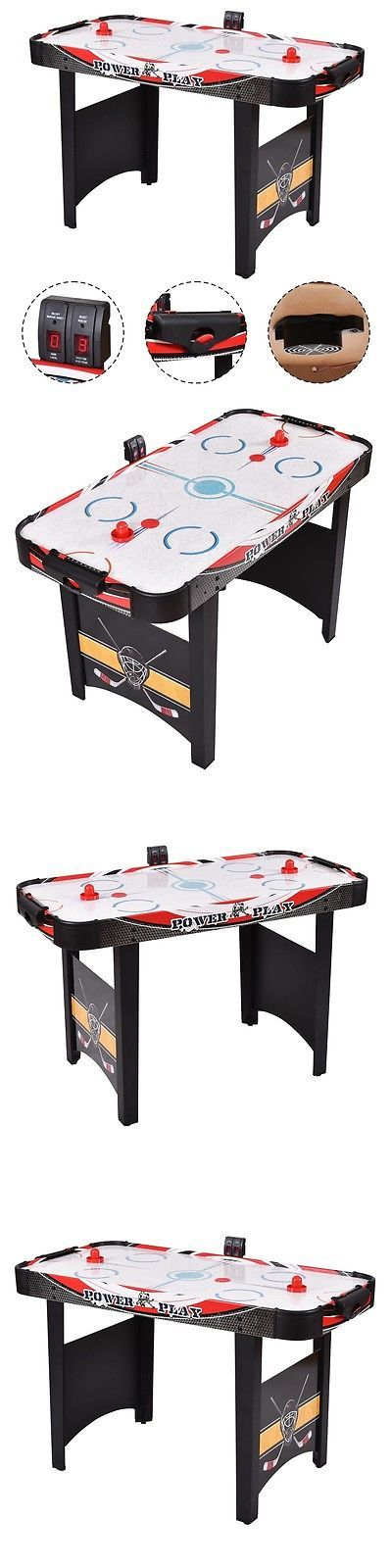 Air Hockey 36275: 48Air Powered Hockey Table Indoor Sports Game Electronic Scoring Red Puck Kids BUY IT NOW ONLY: $72.38