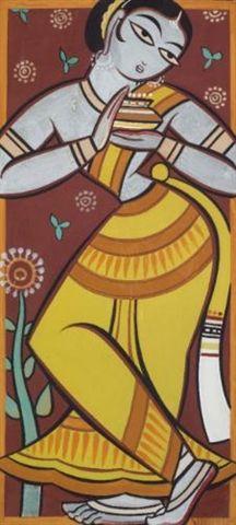 Jamini Roy - Untitled (Gopi)
