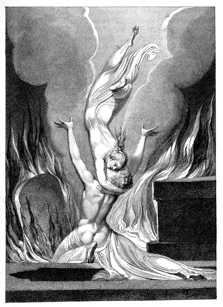 "William Blake, ""The Reunion of the Soul and the Body at the resurrection"" (1808)"
