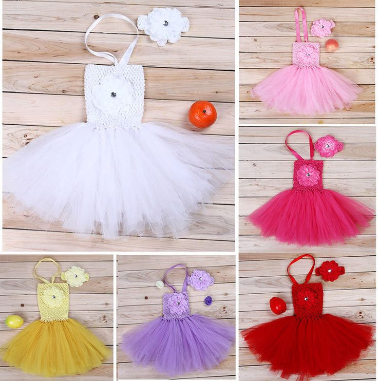Kids Baby Girl Newborn Headband Dress Tutu Clothing Set Outfit Photo Props 0 18M | eBay
