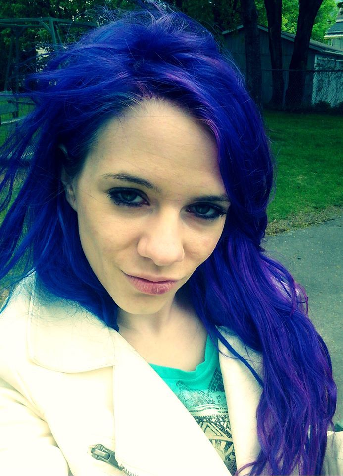 Pretty Color To Dye Your Hair: Blue Hair With Splat Blue Envy