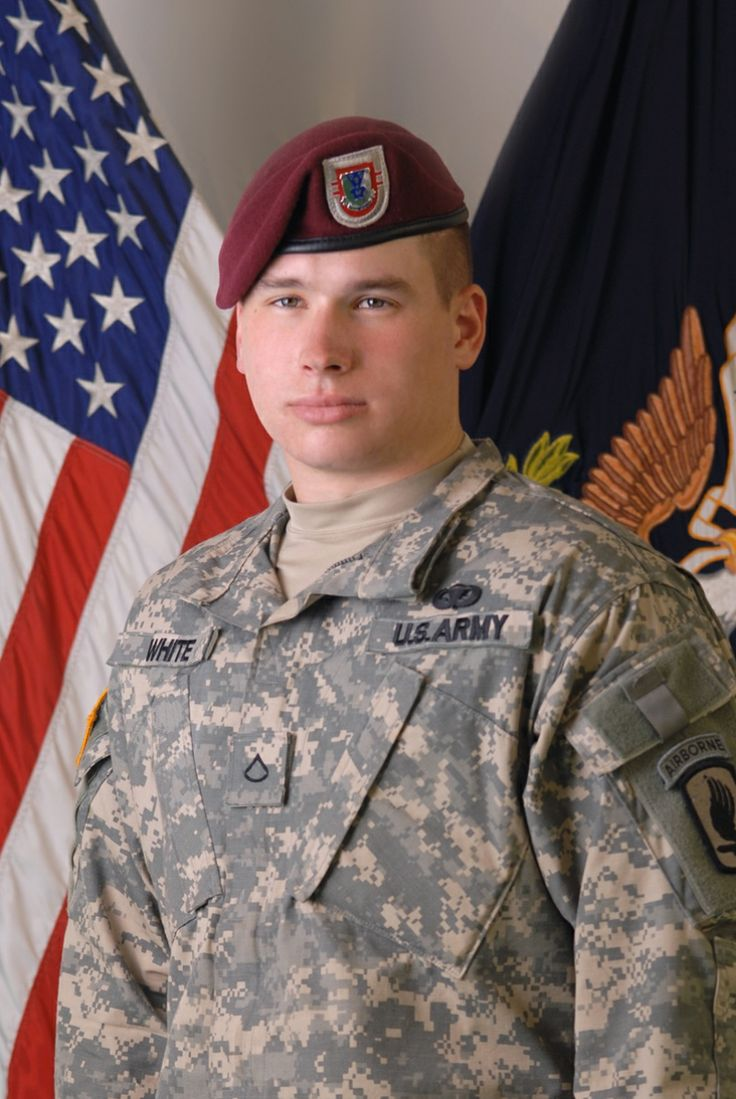 Sergeant Kyle J. White, US Army Medal of Honor recipient near the Village of Aranas, Waigul Valley, Nuristan Province, Afghanistan November 9, 2007.