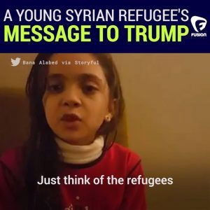 Just think of the refugees and the children of Syria.  7-year-old Syrian refugee and sel #news #alternativenews