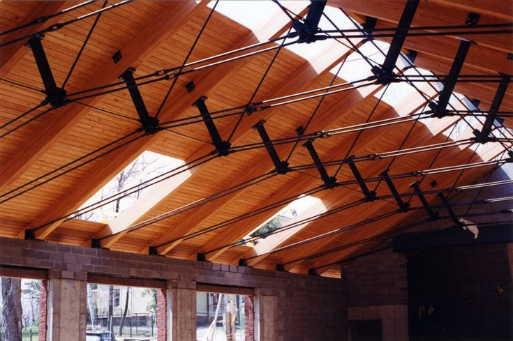 Double tie rod trusses arch detail pinterest for Wooden roof trusses prices