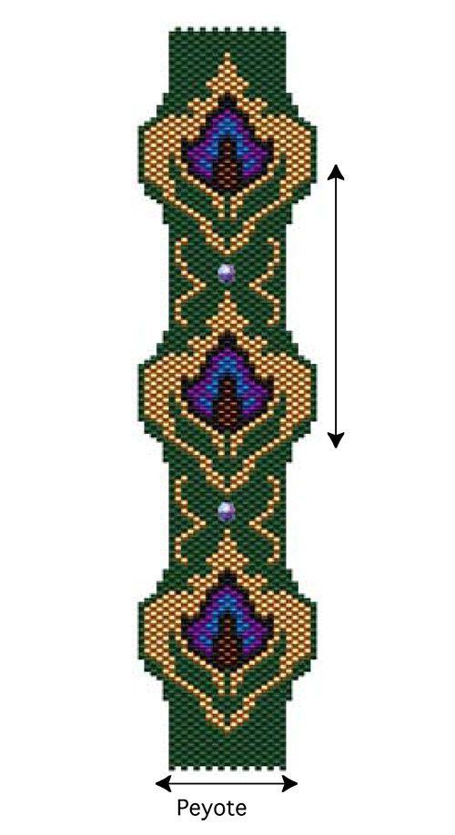 Floral Tapestry Bracelet   Bead-Patterns.com