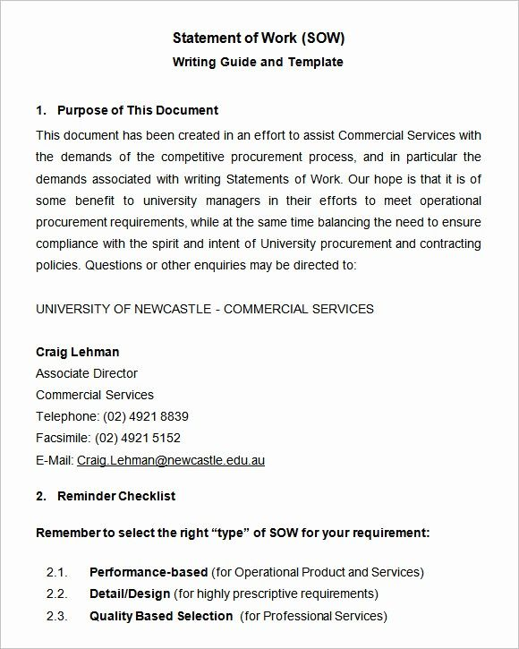 Contractor Statement Of Work Template Elegant Scope Of Work Template 36 Free Word Pdf Documents Statement Of Work Word Template Templates