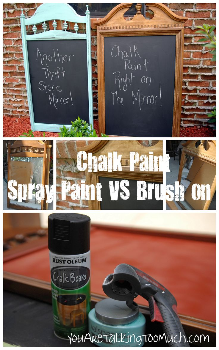 Chalkboard right on mirror and glass!  Spray paint chalkboard paint vs Brush paint!
