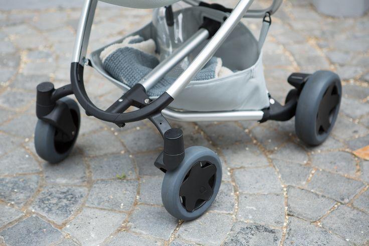 Quinny Zapp Flex Plus - Frost on Grey #quinny #walkyourway #zappx #zappflexplus #frost #grey #stroller #buggy #city #compact