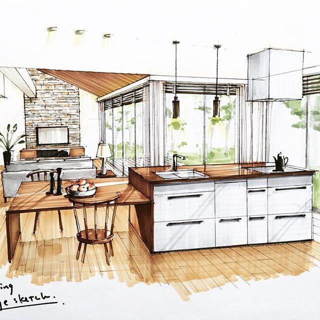 Kitchen Design Rendering: 65 Best Marker Rendering Images On Pinterest