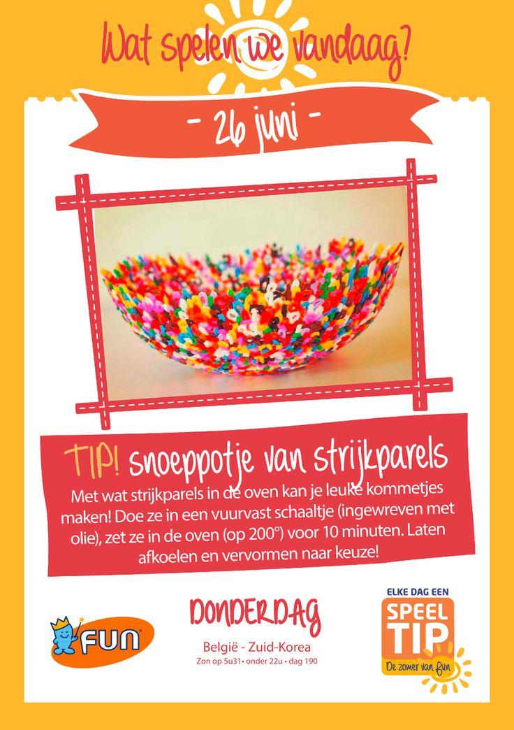 Maak van strijkparels een leuk kommetje! Klik op de afbeelding voor meer uitleg.