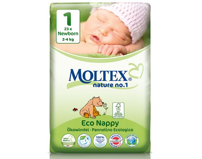 MOLTEX Couches Jetables Eco Nappy Nature 1