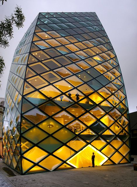 Prada building, Herzog & de Meuron Architekten, Tokyo. (aka The Pineapple). #architecture - ☮k☮