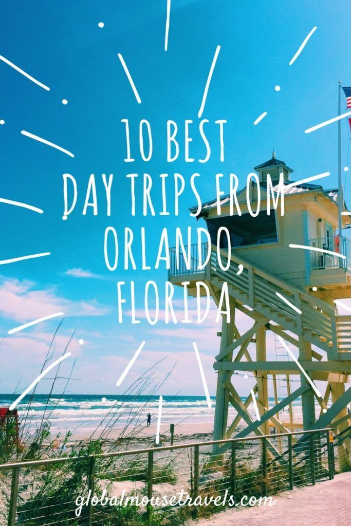 10 of the best day trips from Orlando, Florida including where you can see real mermaids (really!!), dolphins in the wild and many more unique sights just a short drive from Orlando.
