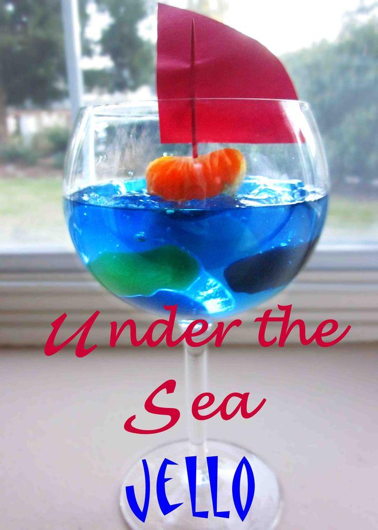 Under the Sea Jello Recipe! #ariel #princess #thelittlemermaid #disney #recipe #easy #jello