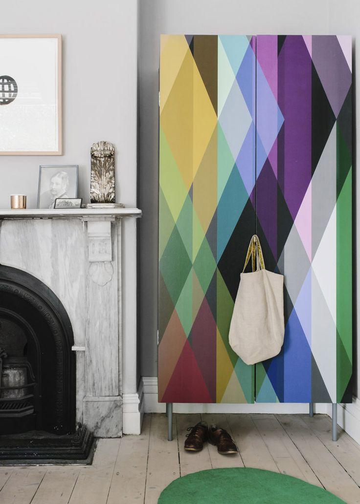 wallpaper on wardrobe